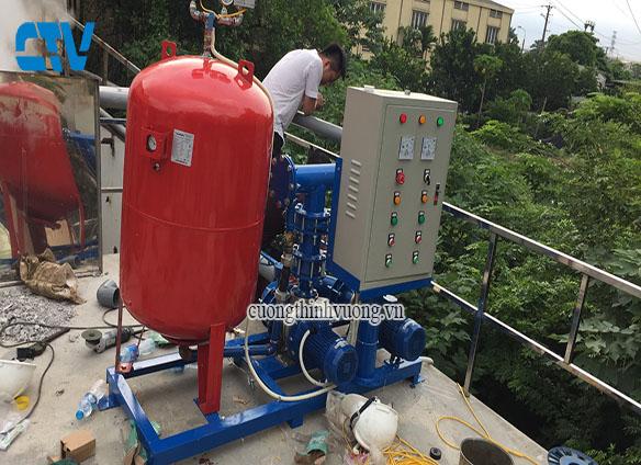 Thi công lắp đặt hệ thống máy bơm tăng áp Stac Italy
